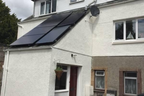 solar panels on white house