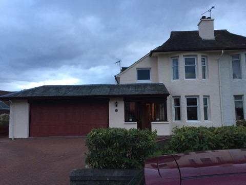two storey house and garage